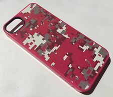 Apple Iphone 5 5S Genuine Griffin case cover hard shell back pink pixelcrash