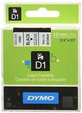 DYMO S0720820 (45800) nastro laminato nero su trasparente 19mm per 5500