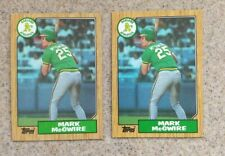 MARK MCGWIRE OAKLAND ATHLETICS 1987 TOPPS No.366 ROOKIE 2 CARDS