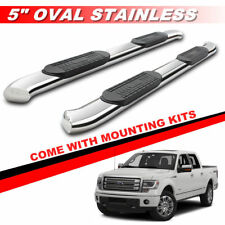 """5"""" Curved Side Steps For 2009-2014 Ford F150 Super Crew Cab Running Boards -1"""