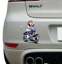Freddie Spencer (4) cartoon image Racing Super Bike Sticker Race Decal motoGP