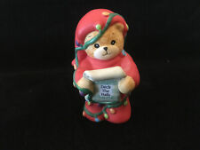 Lucy & Me Christmas Deck The Bear Tangled In Lights Lucy Rigg Enesco 1992 Rare