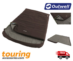 Outwell Campion Lux Double Sleeping Bag-  Lightweight - Summer - Holiday - Fun
