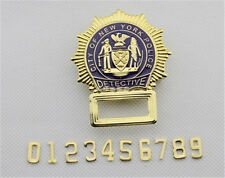 New York American Badge Cosplay Emblem Souvenir Customized Number Copper Badges