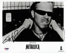 JAMES HETFIELD METALLICA SIGNED 8X10 ANTON CORBIJN PROMO PHOTO PSA COA AA68524