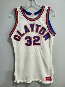 VTG 80s Rawlings Clayton State University Lakers 32 Basketball Jersey Mens 38 S