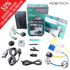 Kewtech KT71 Earth Bond, corrente & isolamento PAT Tester KIT43 con accessori
