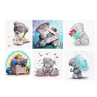 5D DIY Mosaic Diamond Painting Embroidery Bear Cross Stitch Kits Craft Decor
