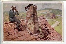 WW1 KuK Patriotik Österreich KünstlerAK Italien  Leopold Wiestl Arti Beobachter