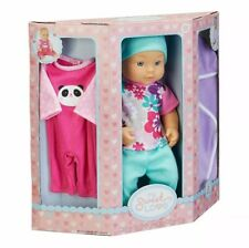 "NEW My Sweet Love 12.5"" Baby Doll & Outfits 6 Piece Play Set Panda Clothes"