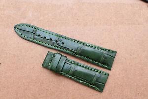 18mm/24mm Genuine Crocodile Alligator Skin Leather Watch Strap Band