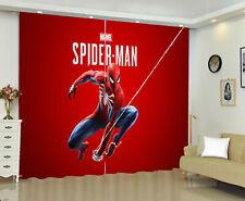 Spiderman 1 Panel Window Panels Digital Print Window Curtains Bedroom Drape Gift