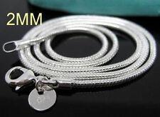 "Wholesale 5PCS 925 Sterling Silver Vivid  Snake Chains Necklace 2MM 24""  C010"