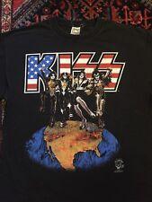 VTG KISS Concert Tour T Shirt LG 1996 World Tour Alive Worldwide Rock Band