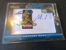 2012 Panini Signature Anthony Gose RC Auto #/99 Blue Jays - PWE .71 Shipping!