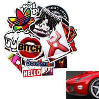 30 Pieces Car Wall Stickers Motorcycle Skateboard Graffiti Laptop Luggage Decals