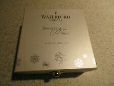 2012 WATERFORD CRYSTAL Snowflake Wishes ornament in box w/hanger/product card