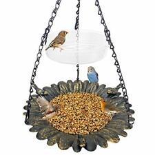 New listing Bird Feeder Hanging Tray,Seed Tray Bird Bath Garden Backyard Decorative (Copper)
