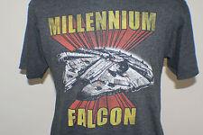 Star Wars Millennium Falcon T Shirt Size sz L Large Tee Short Sleeve Grey