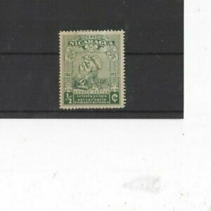NICARAGUA , 1937, SG994 TYPE 147 1/2c GREEN, MH
