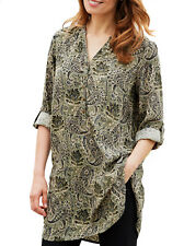 UK Sizes 6 - 32 Ladies Long Paisley Shirt Tunic Blouse Top Red Green EU 34-64 28 Green