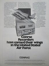 3/1977 PUB CONRAC AIRBORNE DIGITAL RECORDERS ASIP AN/ASH-28 F-15 EAGLE AD