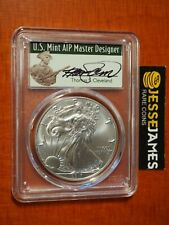 2017 SILVER EAGLE PCGS MS70 THOMAS CLEVELAND HAND SIGNED MINUTEMAN LABEL