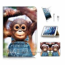 ( For iPad mini Gen 1 2 3 ) Flip Case Cover P3908 Baby Monkey Gorilla