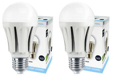 2 x 10W GLS LED Cool White Light Bulb E27 Edison Screw 5000K A60 800 Lumens