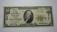 $10 1929 Ashland Oregon OR National Currency Bank Note Bill Ch. #5747 FINE! RARE