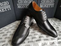100% GENIUNE LEATHER SHOES FOR MEN (GIORGIO MONETTI) [HIGH QUALITY CHEAP PRICE]