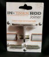 In-Tension Curtain Rod Joiner in Nickel