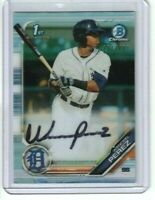 Wenceel Perez 2019 1ST Bowman Chrome Refractor Rookie Auto CPA-WP Tigers 69/499
