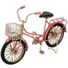 "Vintage- Inspired Collectible Metal 8.75"" Pink Bicycle Bike w/Basket"
