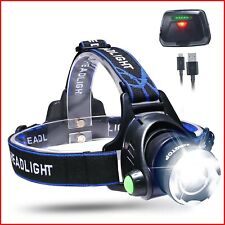 LED Head Torch USB Rechargeable Battery Cree Headlamp Super Bright Headlight New