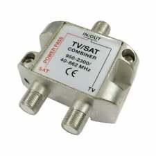 Satellite TV Aerial Signal Cable Combiner Y Splitter Diplexer VHF UHF F Fype