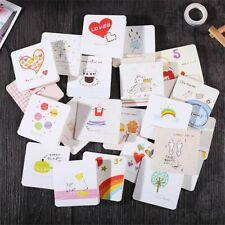 10 Card+10envelopes Kawaii Mini Greeting Card Cute Cartoon Letter Paper Set New