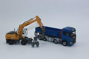 Palfinger Scania Abroller  +  Liebherr A 904 Mobilbagger  1:50