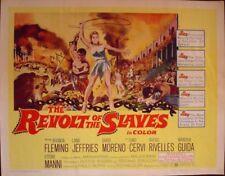 REVOLT OF THE SLAVES half sheet US movie poster 22x28 PEPLUM 60 SERGE GAINSBOURG