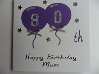 Stunning Personalised Handmade Female  Birthday Card ANY AGE/OPEN/RELATION