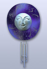 Made-in-the-Usa Solar Smiling Once in a Blue Moon Chime by Sunblossum