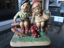 Hummel Reproduction Figural Group, Hand Painted