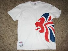 New No Tags Team GB Olympic 2012 Sz Medium Whire/Red/Blue T Shirt