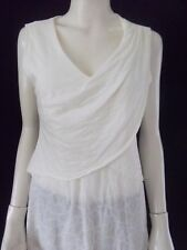MESSOP Womens sleeveless cream overlay top Size 12 - BNWT