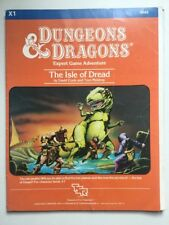X1 The ISLE of DREAD 9043 / 4TH PRINTING /1983 D&D - w/Full color island map!