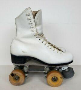 Vtg Douglas Snyder Super Deluxe Womens Size 6 White Riedell 297 Roller Skates