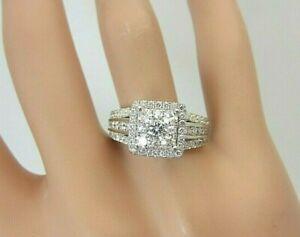 14k White Gold 1.55 carat Diamond Ring Engagement