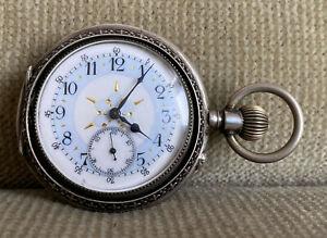 alte Taschenuhr  Silber - 55 mm ca. 1890