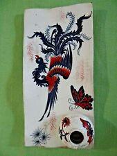 GD Paris Depose Georges Dreyfus French Porcelain Ink Well Pen Tray Bird