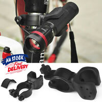 360°Swivel Bicycle Flashlight Torch Clip Clamp LED Mount Holder Bike Cycling
